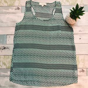 Olive and Oak Lightweight Patterned Tank